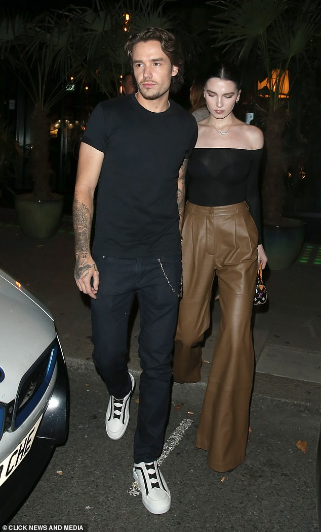 It's over: The outing comes after Liam confirmed his split from Texan model Maya, 21, earlier this month (last pictured together in September 2020)