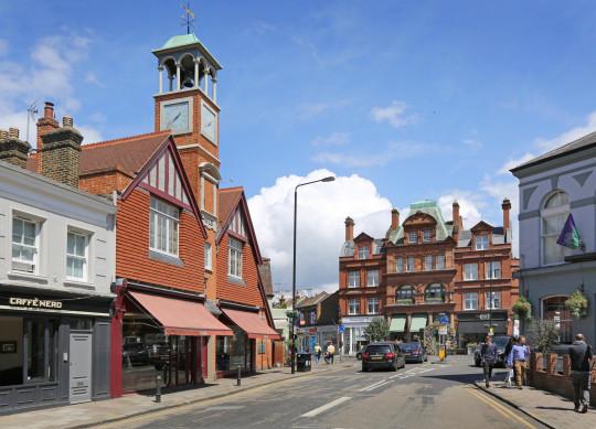 Wimbledon Village, southwest London, UK,