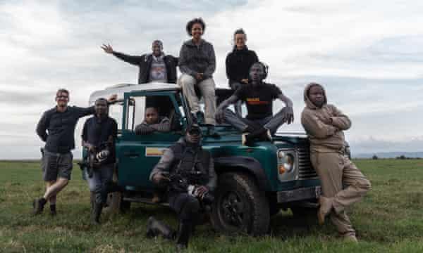 Paula Kahumbu and the team from WildlifeDirect