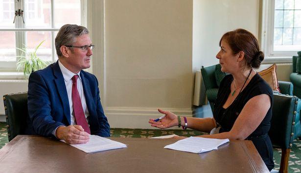Daily Mirror columnist Susie Boniface interviews Labour leader Sir Keir Starmer at Portcullis House
