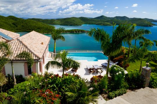 luxury Caribbean villa in the Virgin Islands - tropical vacation