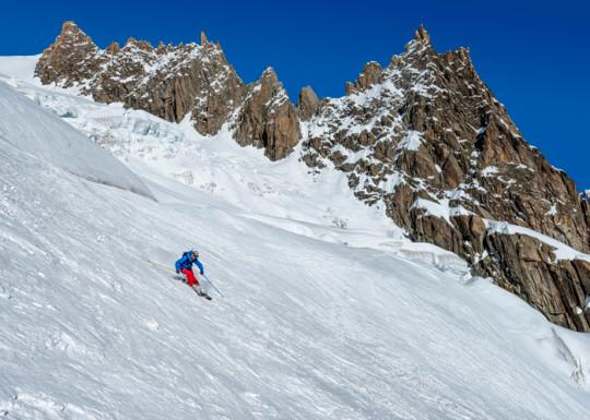 France, Chamonix, Valley Blanche, mountaineering