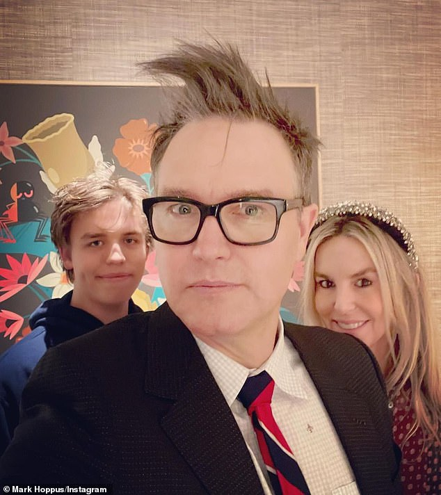 December 31 family portrait: On August 5, the Beverly Hills-based musician and the 48-year-old former MTV talent executive (R) will celebrate the 19th birthday of their son Jack (L), who's currently attending The University of Chicago