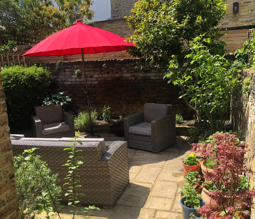The transformed garden at Heidi Fitchett's London flat
