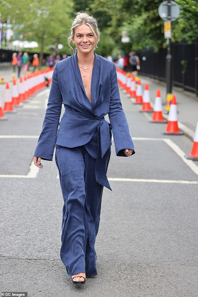 Wimbledon Day 3: The tennis kicked off on Wednesday, with the celebs on hand to add some glamour to proceedings - X Factor winner Louisa Johnson leading the way