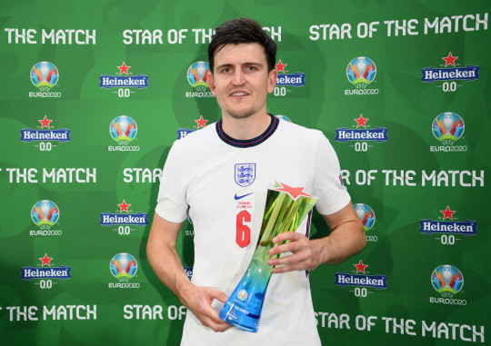 The defender was named man of the match