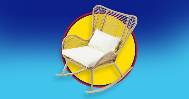 The new popular piece of garden furniture is a rocking chair