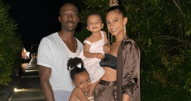Alesha Dixon with husband Azuka Anonye and daughters