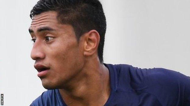 Ata Hingano has made eight international appearances for Tonga