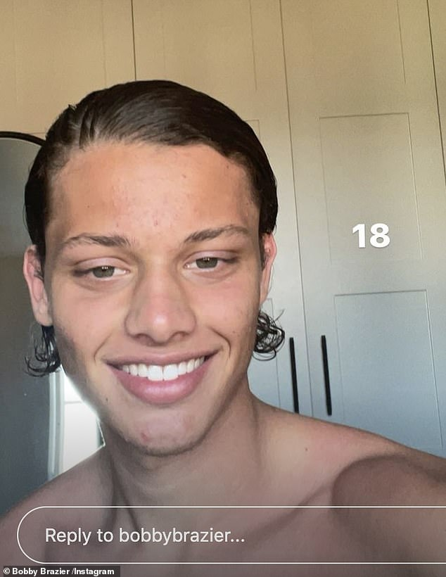 Happy Birthday! Jeff Brazier and Jade Goody's model son Bobby turned 18 on Wednesday, andtook to his Instagram Stories to document his day of fun