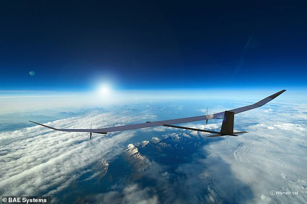A British-built solar powered drone with a 115ft wingspan that can stay in the air for over a year will be an alternative to low Earth orbit satellites, its developers claim