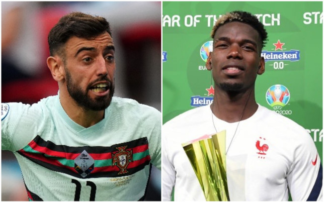Bruno Fernandes and Paul Pogba got off to winning starts at Euro 2020