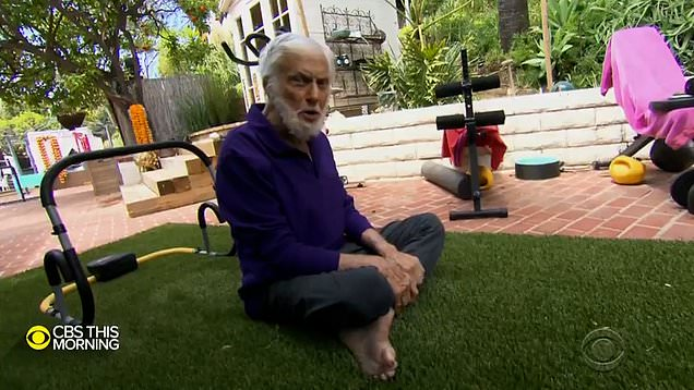 Dick Van Dyke is super fit at 95 as he shows off his garden workout