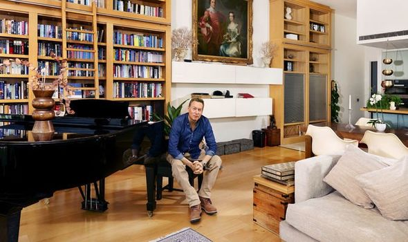 Frank Gardner: Frank with father's grand piano