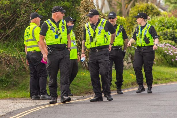 Police and security teams keep a heavy presence in Carbis Bay, Cornwall, ahead of the G7 summit.