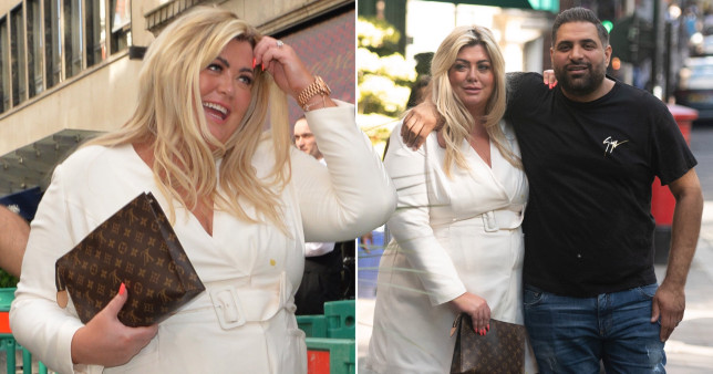 TOWIE star Gemma Collins pictured out in Mayfair with a mystery man