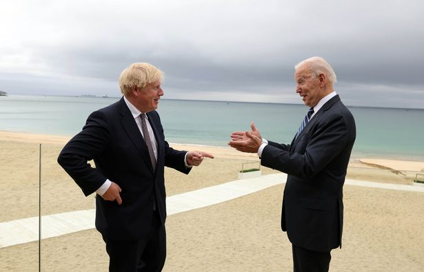 Boris Johnson and Joe Biden met for the first time at the G7 summit in Cornwall