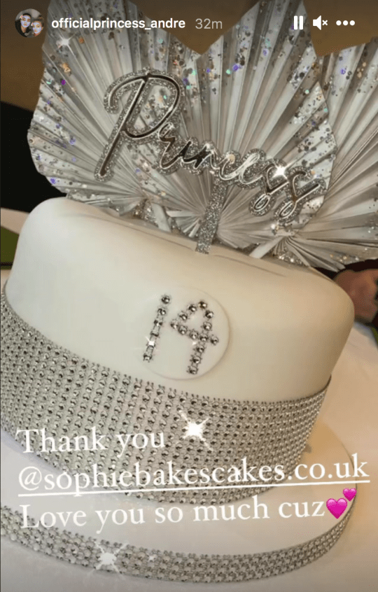 Princess Andre birthday cake