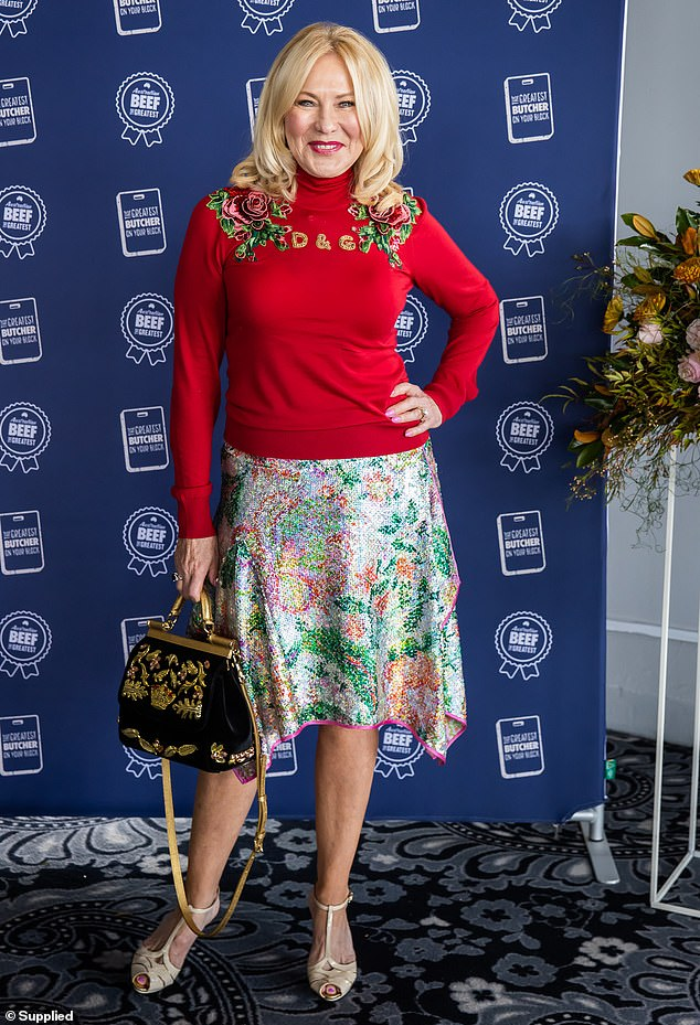 Moving forward:Kerri-Anne Kennerley has made her first public appearance since burying her mother, Grace, last week. She was surrounded by supportive friends on Tuesday as she attended an event hosted by Meat and Livestock Australia at Sydney's Pier One hotel