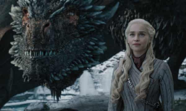 Emilia Clarke as Daenerys Targaryen in the HBO series Game of Thrones.