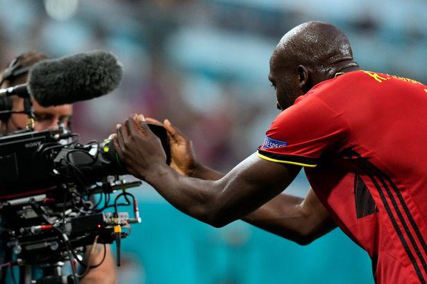Romelu Lukaku shouted Christian Eriksen's name into a camera after scoring against Russia