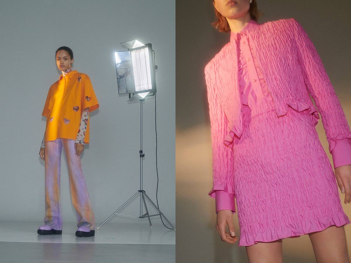 MSGM women's resort 2022 collection: Technicolour