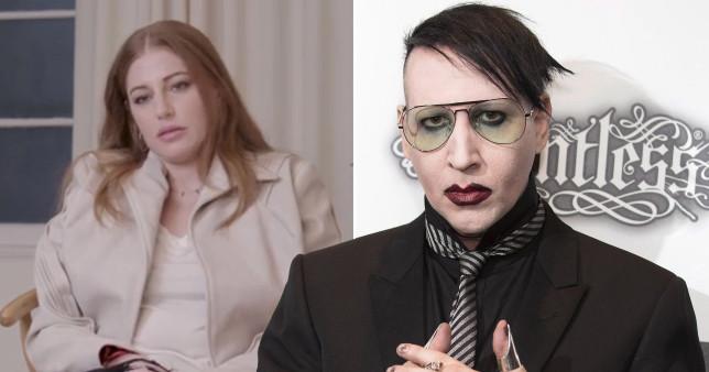Ashley Morgan Smithline and Marilyn Manson