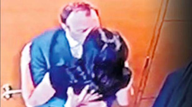 Matt Hancock pictured kissing his aide Gina Coladangelo