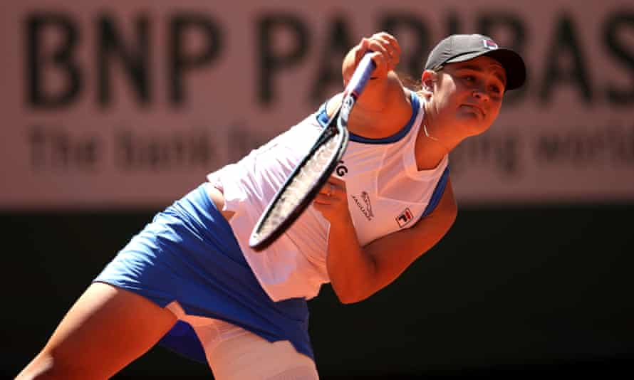 The strapping on Ashleigh Barty's leg showed the extent of her fitness difficulties but she won her first-round match.