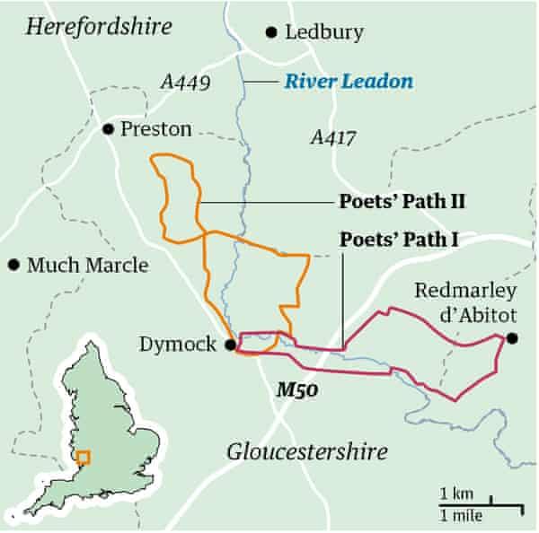 dymock map