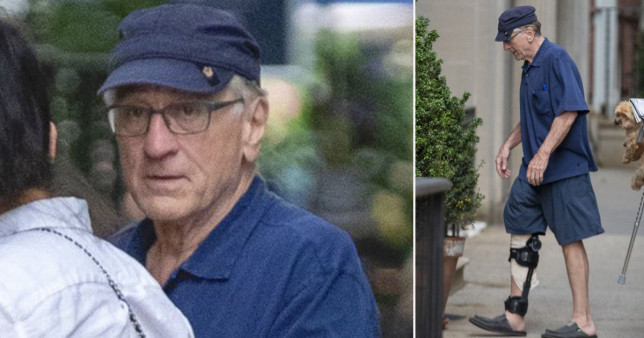 De Niro seen for first time since injury on set