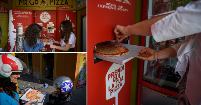 The pizza vending machine comes to Rom