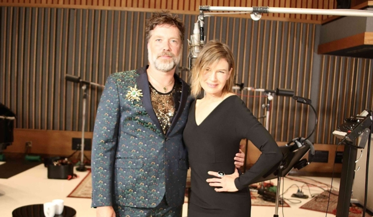 Rufus Wainwright with Renée Zellweger at Capitol Studios in LA (Photo: Sean James)