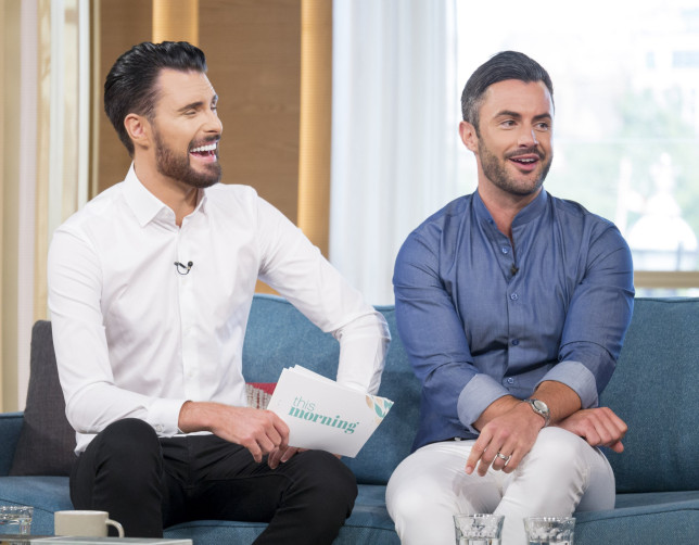 Editorial use only Mandatory Credit: Photo by S Meddle/ITV/REX (5822440x) Rylan Clark and Dan Clark-Neal 'This Morning' TV show, London, UK - 05 Aug 2016