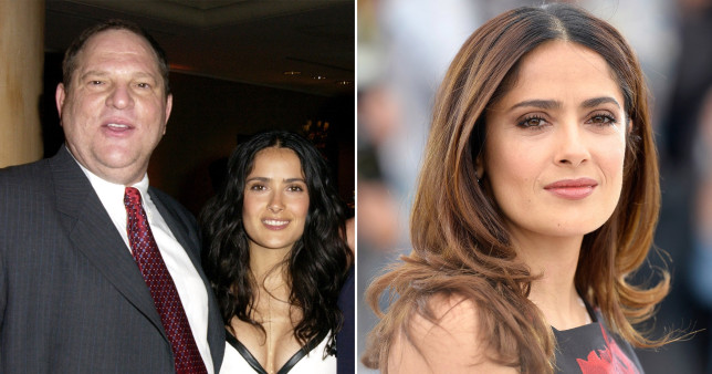 Hollywood actress Salma Hayek with disgraced producer Harvey Weinstein