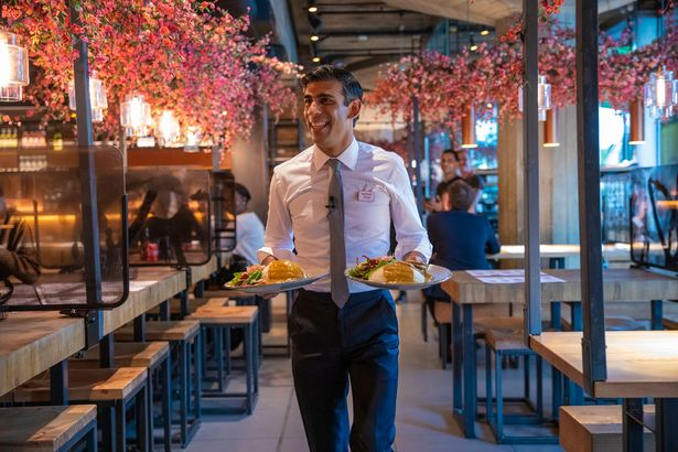 Rishi Sunak's hospitality scheme 'Eat Out to Help Out' racked up a similar bill