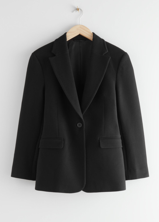 & Other Stories single breasted black blazer
