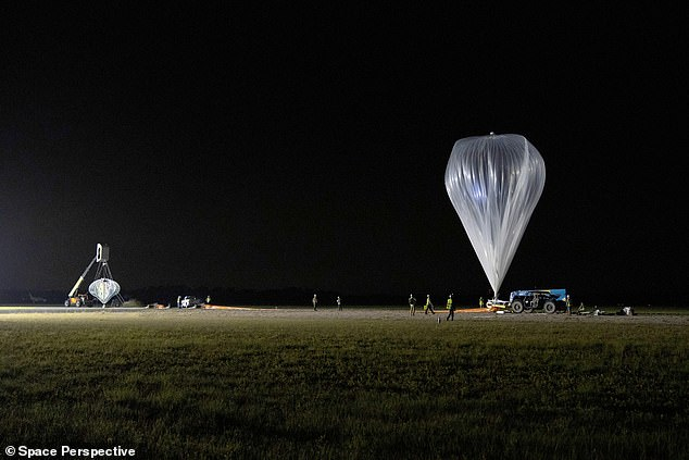 Space tourism startup Space Perspective successfully completed its first unmanned test flight Friday of a gigantic balloon that will soon take humans to the stratosphere