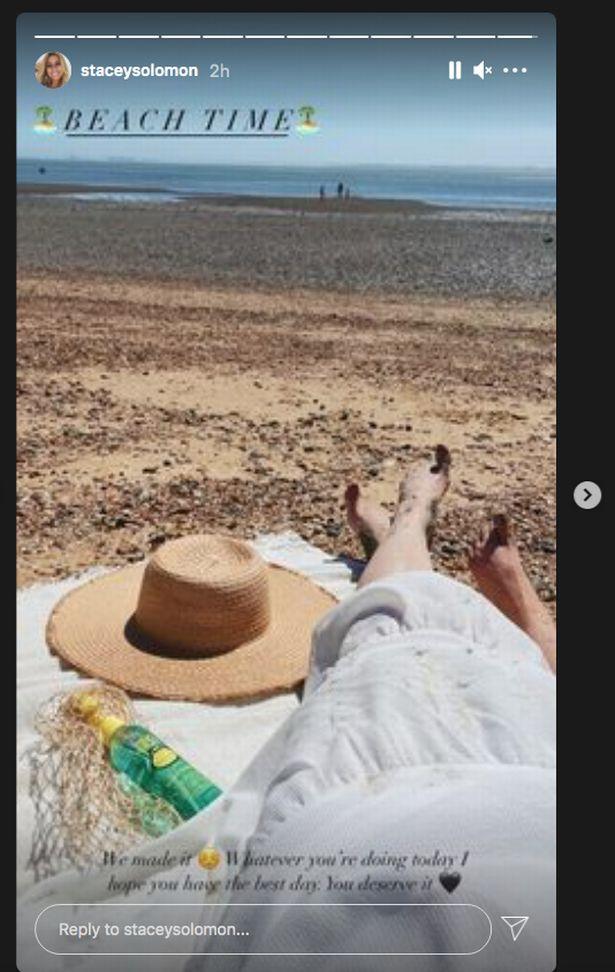 Stacey Solomon beach