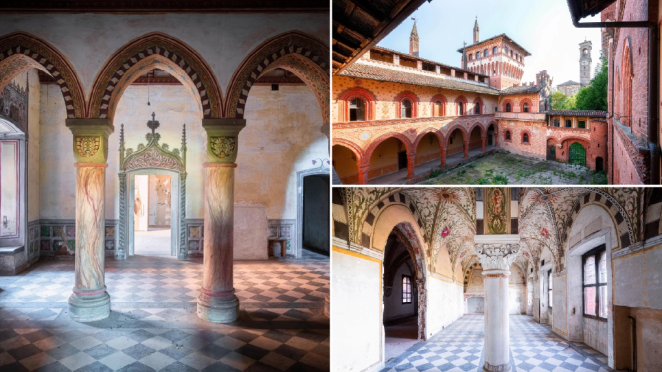 inside the abandoned tuscan castle