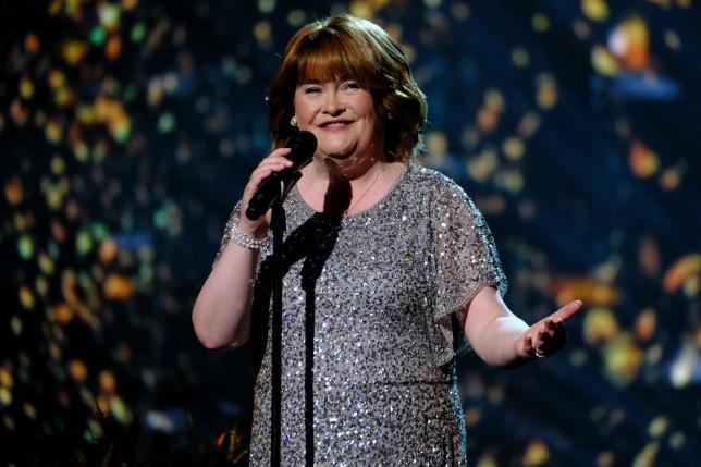 Susan Boyle performing