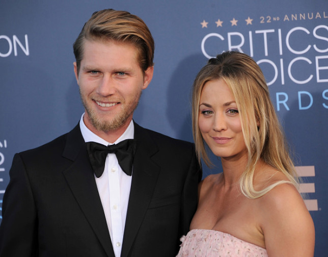 Kaley Cuoco and Karl Cook.