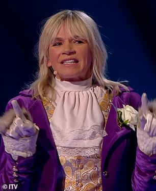 Amazing!Zoe Ball was unmasked as Llama on Thursday night's edition of The Masked Dancer