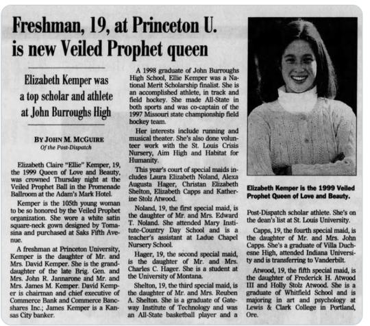 Ellie Kemper as Veiled Prophet Queen
