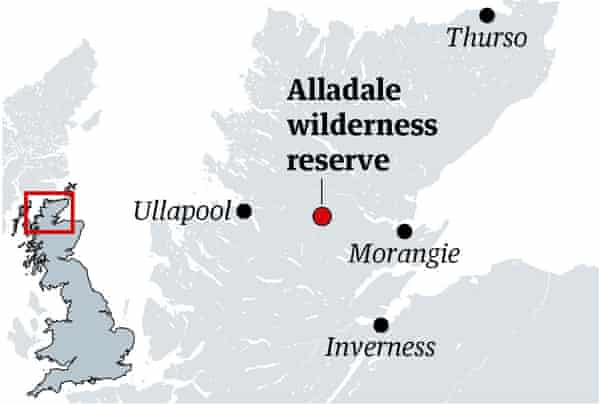North of Scotland map, showing Alladale, Thurso, Ullapool, Morangie and Inverness.
