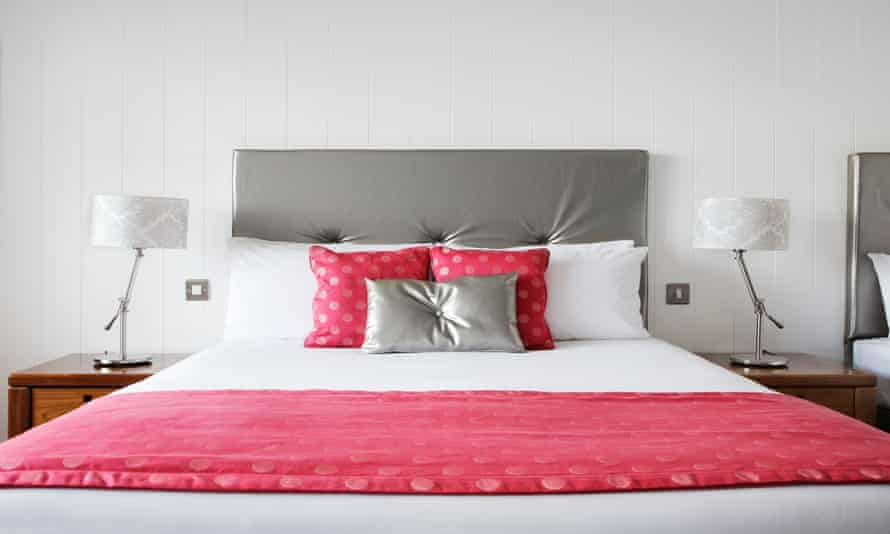 Bedroom at the Ferrycarrig Hotel, Wexford, Ireland.