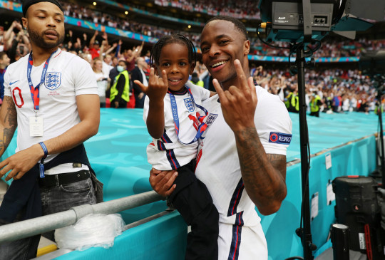 Raheem Sterling and his son