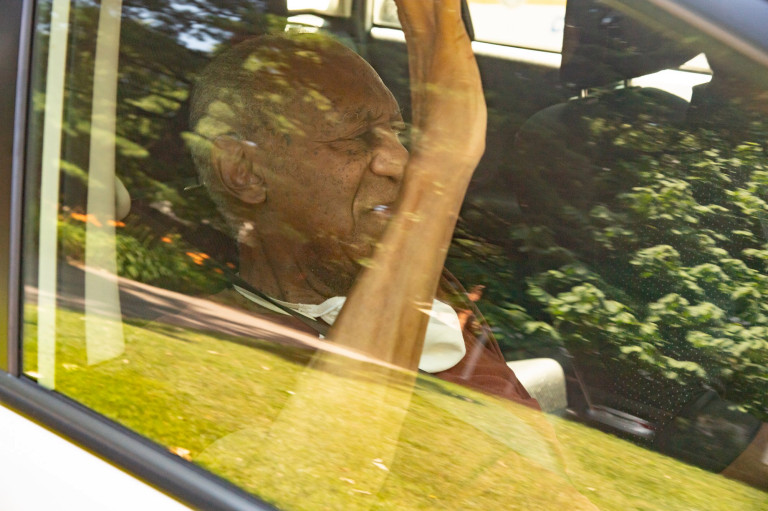 Bill Cosby arrives home after being released from prison