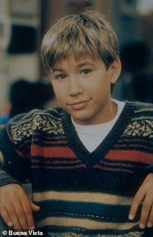 Iconic:Jonathan reached fame at just nine-years-old playing Randy Taylor on Home Improvement which debuted in 1991 (he is seen on the show in 1995)