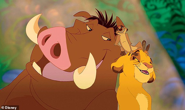 Chosen one:He also famously voiced the young Simba (right) in iconic 1994 animated film The Lion King